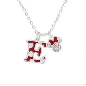Disney Parks Minnie Polka Dot Necklace Swarovski